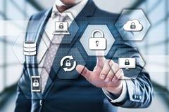 Het Slot van de Cyberveiligheid op het Digitale concept van de van de het Bedrijfs schermgegevensbescherming Technologieprivacy royalty-vrije stock afbeeldingen