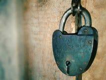 Het slot van de deur Stock Afbeeldingen