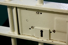 Het slot van de Deur van de gevangenis Stock Fotografie