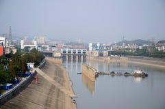Het slot van het schip van project Gezhouba Stock Fotografie