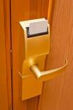 Het slotsleutel van de deur Stock Fotografie