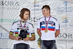 Het Slowaakse en Tsjechische nationale weg het cirkelen kampioenschap 2017 Stock Afbeeldingen