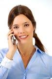 Het sluiten overeenkomsten telefonisch Royalty-vrije Stock Afbeelding