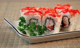 Het smakelijke Japanse voedsel van rijst Stock Afbeeldingen