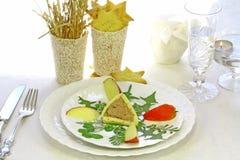 Het smakelijke ontbijt van Kerstmis Royalty-vrije Stock Afbeeldingen