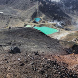 Het smaragdgroene Nationale Park van Tongariro van Meren, Nieuw Zeeland Stock Afbeelding