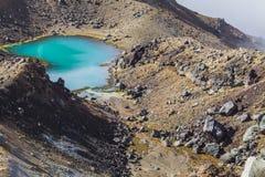Het smaragdgroene Nationale Park van Tongariro van Meren, Nieuw Zeeland Stock Fotografie