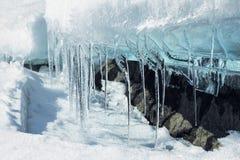 Smeltende ijsgletsjer Stock Foto