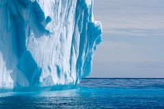 Het smelten ijsbergdetail Royalty-vrije Stock Foto's