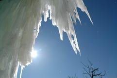 Het smelten van het ijs stock foto