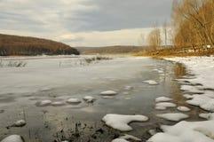 Het smelten van het meer Stock Foto