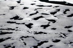 Het smelten van ijs bij de het Noordenpool in 2016 de sneeuwmoeras van het sneeuwbrijgebied Royalty-vrije Stock Foto's