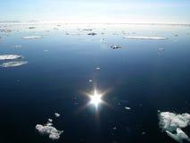 Het smeltende Noordpoolgebied Stock Fotografie