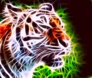 Het snauwen van tijger Royalty-vrije Stock Foto's