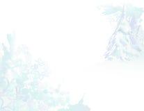 Het sneeuw Landschap van Grunge van de Waterverf Stock Fotografie