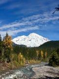 Het sneeuw Paradijs, zet Regenachtiger op stock fotografie