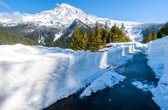 Het sneeuw Paradijs, zet Regenachtiger op stock afbeeldingen