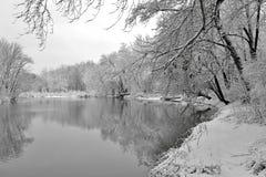 Het sneeuw plaatsen Stock Foto's