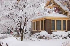 Het sneeuwen royalty-vrije stock fotografie