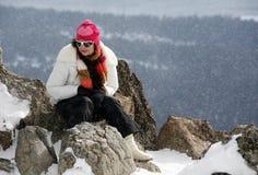 Het sneeuwen stock foto's