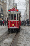 Het sneeuwen in Istiklal II Stock Afbeelding