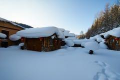 Het sneeuwhuis in de de sneeuwstad van China ` s royalty-vrije stock fotografie