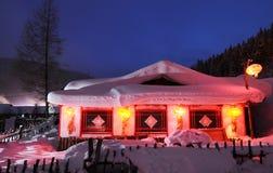 Het sneeuwland in China Stock Fotografie