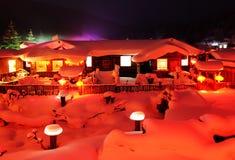 Het sneeuwland in China Royalty-vrije Stock Afbeeldingen