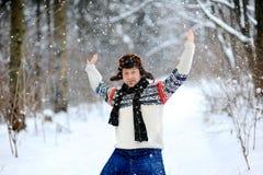 Het sneeuwt Stock Foto