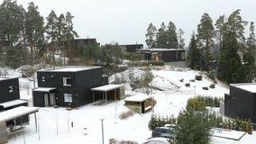 Het sneeuwt in Oslo stock videobeelden