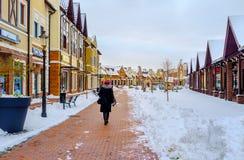 Het sneeuwweer in Kiev Royalty-vrije Stock Fotografie