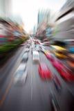 Het snelle auto's bewegen zich stock foto's