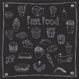Het snelle Voedsel trekt Punt 25 Stock Afbeeldingen