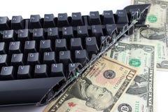 Het snijden van begroting 2 van IT stock afbeeldingen