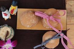 Het snoepje van de palmsuiker van traditioneel voor het koken stock afbeelding