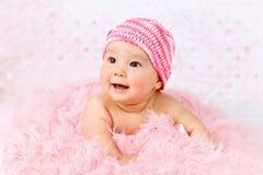 Het snoepje weinig baby het dragen pingelt tuturok Stock Afbeeldingen