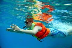 Het snorkelen Stock Foto