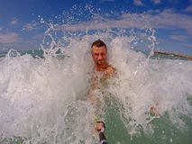 Het snorkelen in aegenoverzees Onderwater fotografie Stock Foto's