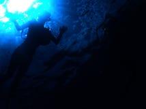 Het snorkelen I een koraalrif Stock Foto
