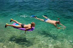 Het snorkelen in Kroatië Stock Foto's