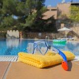 Het snorkelen reeks en handdoek Royalty-vrije Stock Fotografie