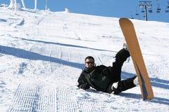 Het snowboarding van de wintertijd Royalty-vrije Stock Foto
