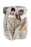 Het snurken Partner stock afbeelding