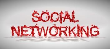 Het sociale concept van de voorzien van een netwerkkwetsbaarheid Stock Afbeelding