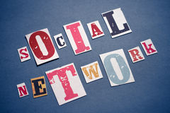 Het sociale Concept van het Netwerk Royalty-vrije Stock Foto