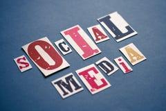 Het sociale Concept van Media Stock Fotografie