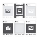 Het sociale kader van de netwerkfoto Facebook Stock Afbeeldingen