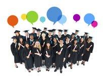 Het Sociale Media Concept van Graduatieoudstudenten Royalty-vrije Stock Afbeeldingen