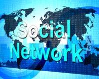 Het sociale Netwerk betekent verbindend Mensen en Forums Stock Afbeeldingen