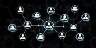 Het sociale netwerk moderne vlakke interface 3D teruggeven Royalty-vrije Stock Fotografie